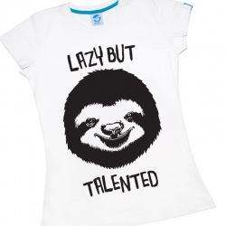 Koszulka Damska Lazy but Talented
